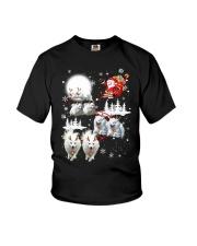 EROS American Eskimo Dog Reindeers Youth T-Shirt thumbnail