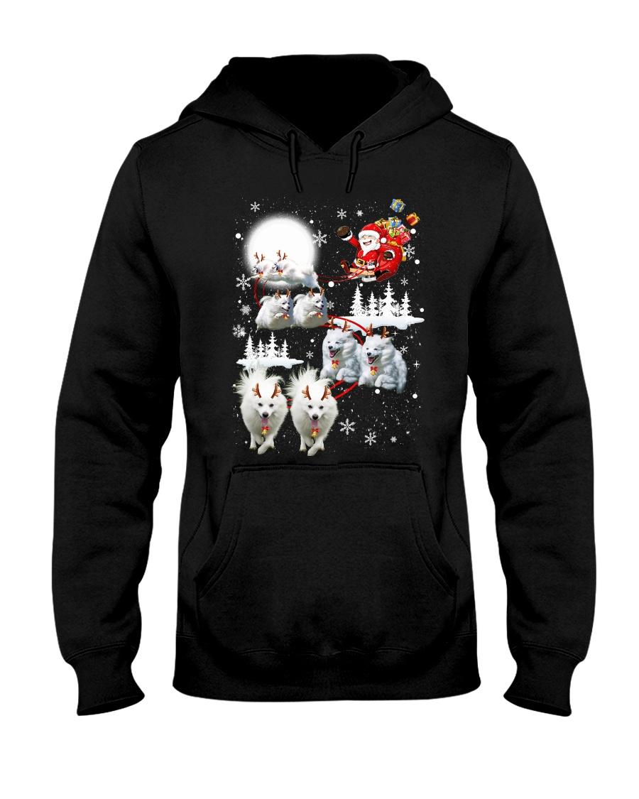 EROS American Eskimo Dog Reindeers Hooded Sweatshirt