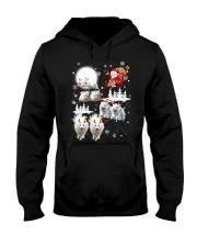 EROS American Eskimo Dog Reindeers Hooded Sweatshirt front