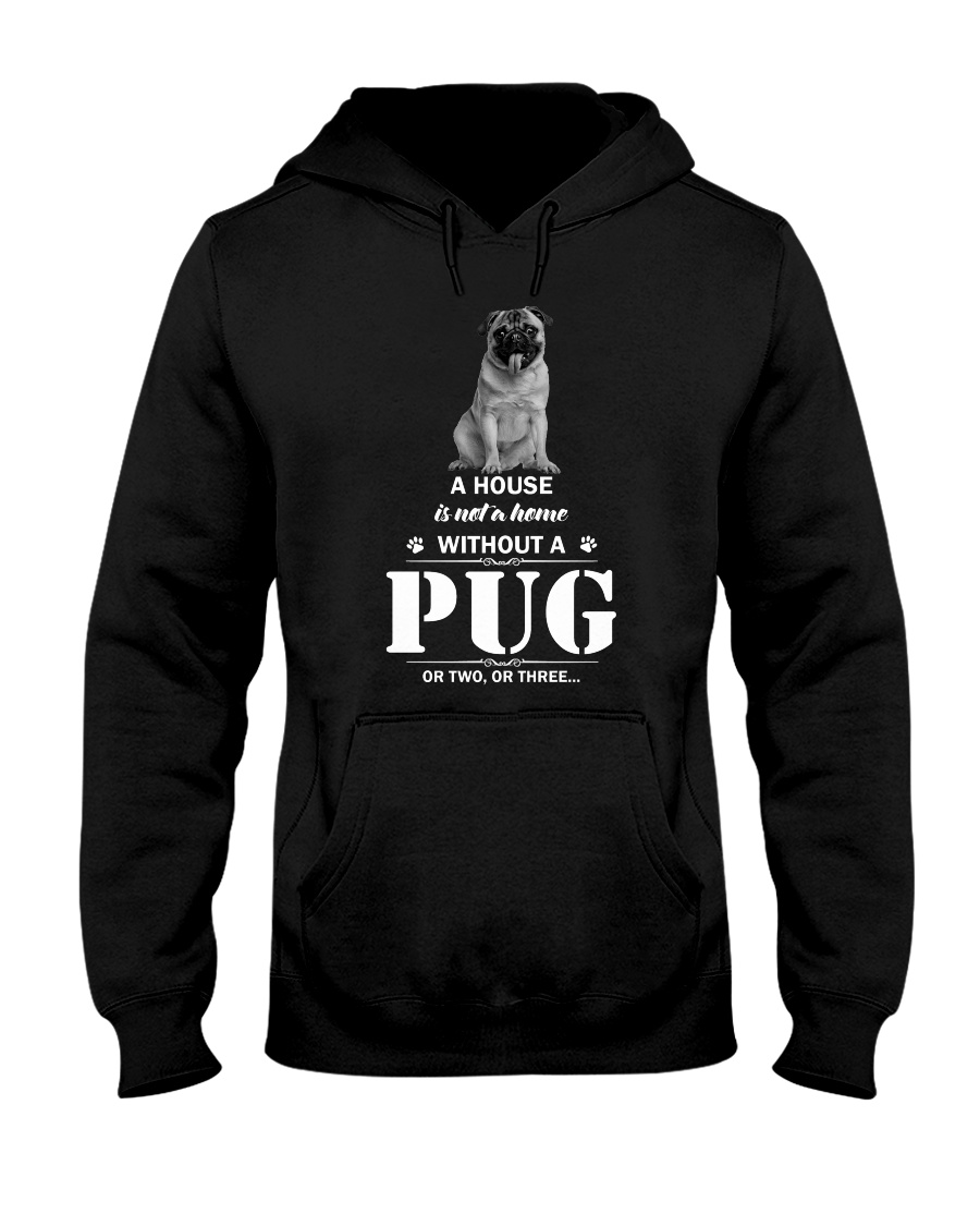 GAEA - Pug Home - 2610 - 87 Hooded Sweatshirt