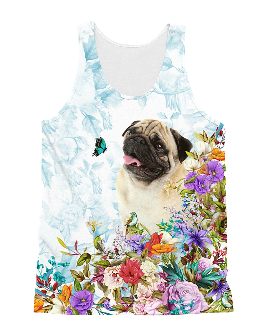 THEIA Pug Cute 1607 All-over Unisex Tank