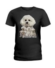 Bichon Frise Awesome Family 0501 Ladies T-Shirt thumbnail