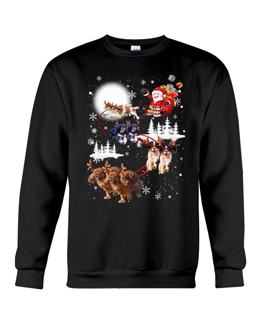 Cavalier King Charles Spaniel Reindeers 1909 Crewneck Sweatshirt