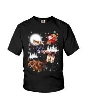 Cavalier King Charles Spaniel Reindeers 1909 Youth T-Shirt thumbnail