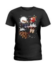 Cavalier King Charles Spaniel Reindeers 1909 Ladies T-Shirt thumbnail