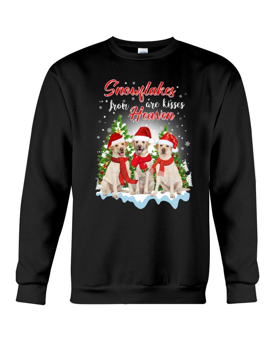 Labrador Retriever Snowflakes Are Kisses 0510 Crewneck Sweatshirt