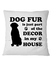 Dog Fur Square Pillowcase back