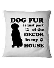 Dog Fur Square Pillowcase front