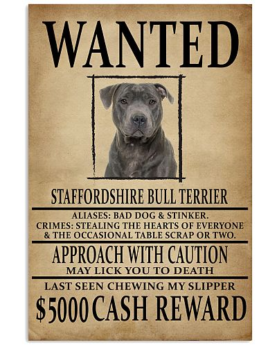 Staffordshire Bull Terrier Wanted Poster 2201
