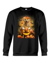 Golden Retriever And Pumpkin Crewneck Sweatshirt thumbnail