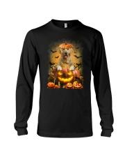 Golden Retriever And Pumpkin Long Sleeve Tee thumbnail