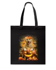 Golden Retriever And Pumpkin Tote Bag thumbnail
