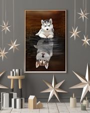 Siberian Husky Believe 11x17 Poster lifestyle-holiday-poster-1