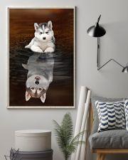 Siberian Husky Believe 11x17 Poster lifestyle-poster-1