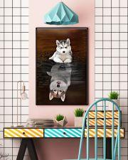 Siberian Husky Believe 11x17 Poster lifestyle-poster-6