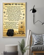 Bouvier des Flandres Waiting at The Door 11x17 Poster lifestyle-poster-1