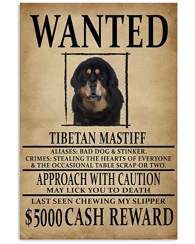 Tibetan Mastiff Wanted Poster 2201
