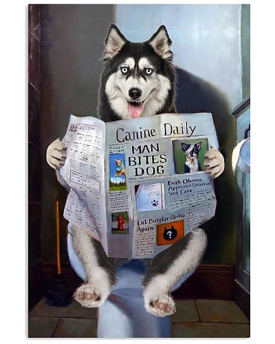 Siberian Husky Newspapers Poster 0501