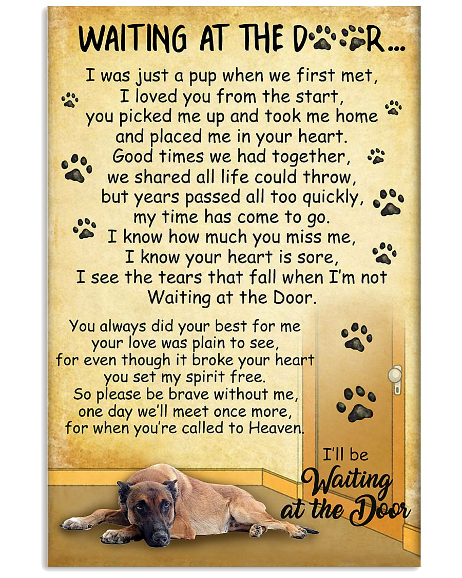 Belgian Malinois Waiting At The Door Poster 2301 11x17 Poster