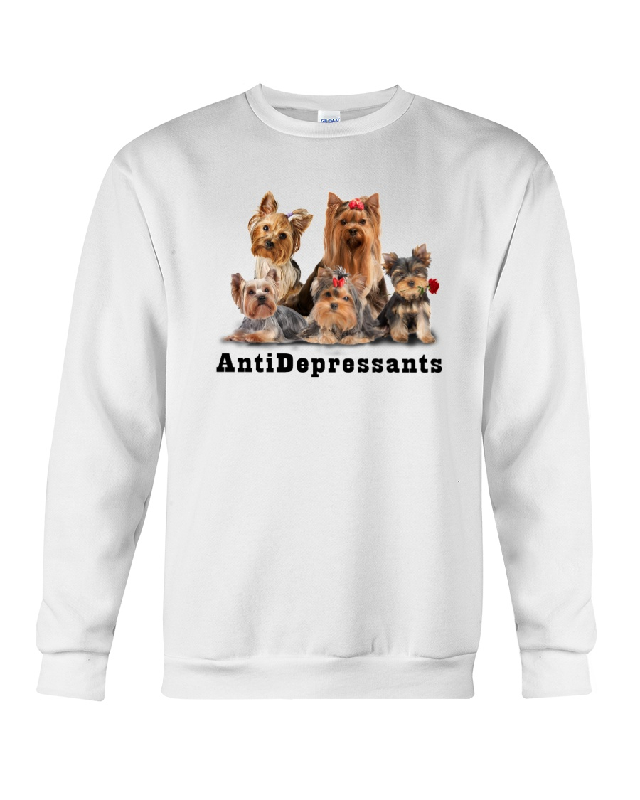 Yorkshire Terrier Antidepressants 1712 Crewneck Sweatshirt