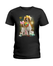 Welsh Springer Spaniel Happy Easter Day 2601  Ladies T-Shirt thumbnail