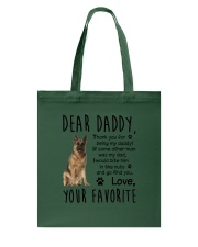 German Shepherd Dear Daddy 1801 Tote Bag thumbnail