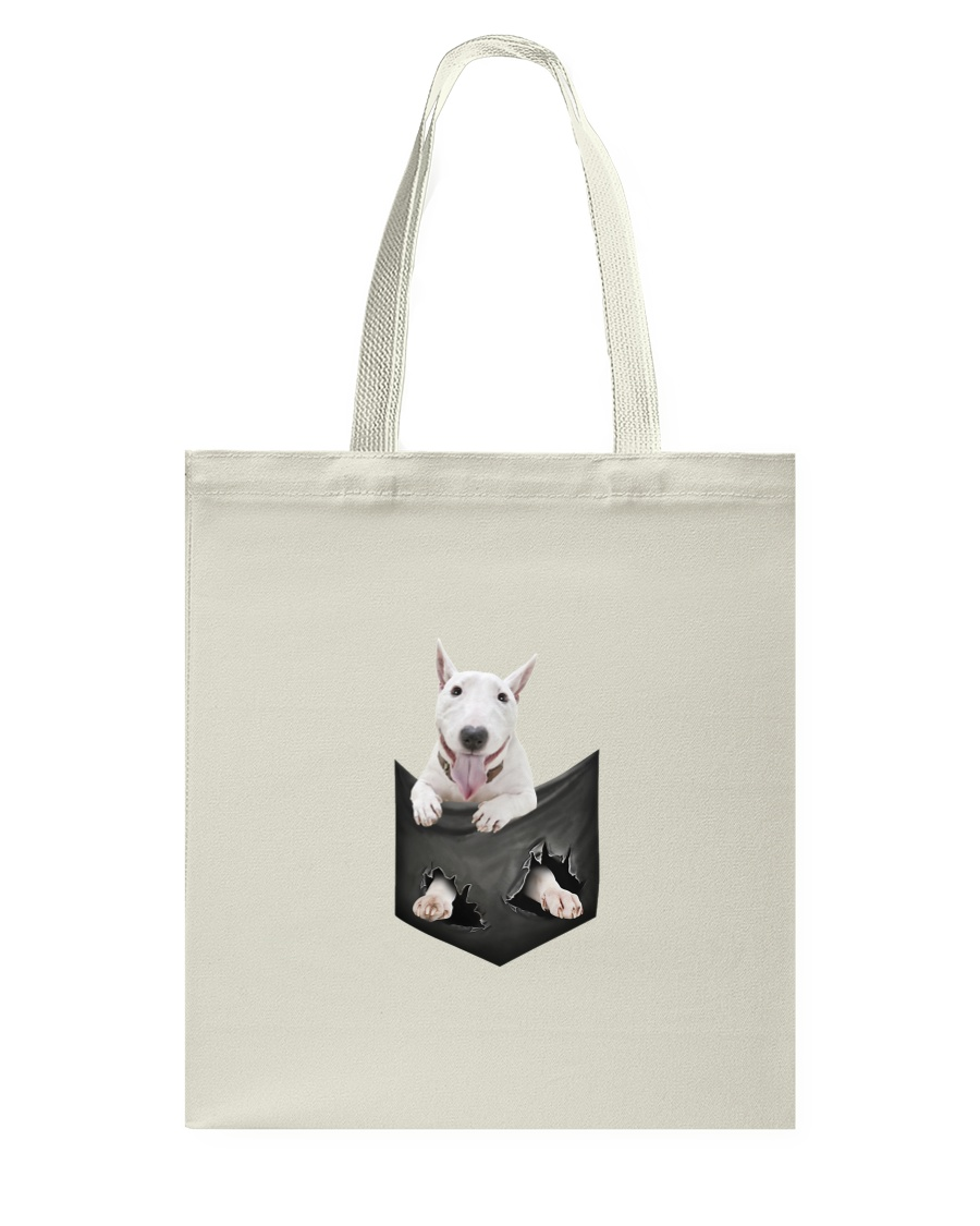 Bull Terrier Pocket 1012 Tote Bag