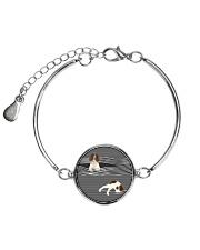 English Springer Spaniel Striped  Metallic Circle Bracelet thumbnail