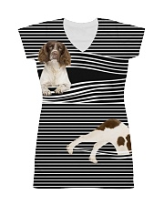 English Springer Spaniel Striped  All-over Dress thumbnail