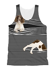 English Springer Spaniel Striped  All-over Unisex Tank front
