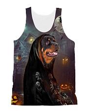 Rottweiler Halloween All-over Unisex Tank front