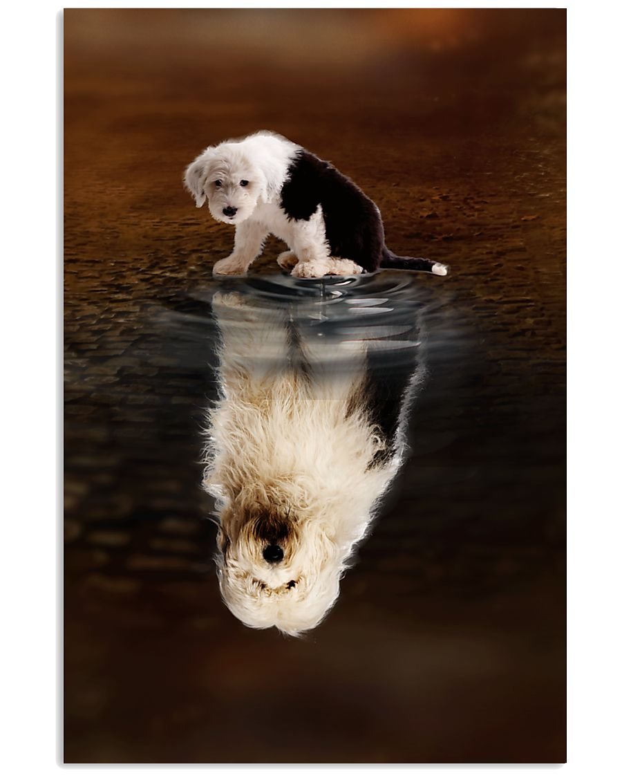 Old English Sheepdog Believe 11x17 Poster