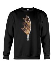 German Shepherd zip Crewneck Sweatshirt front