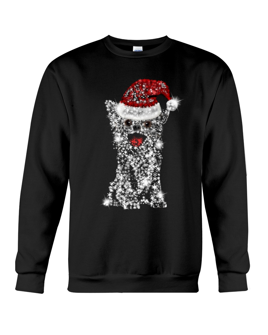 Chihuahua Snowflake Bling Crewneck Sweatshirt