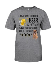 Staffie and Beer 0610 Classic T-Shirt thumbnail