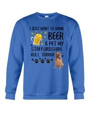 Staffie and Beer 0610 Crewneck Sweatshirt thumbnail