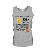 Staffie and Beer 0610 Unisex Tank thumbnail