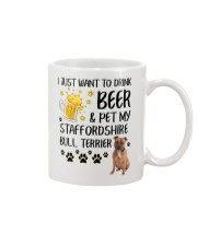 Staffie and Beer 0610 Mug front