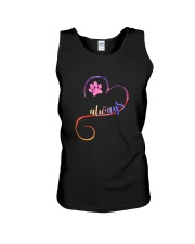 Dog always heart 0110 Unisex Tank tile