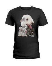 Bedlington Terrier Awesome Family 0501 Ladies T-Shirt thumbnail