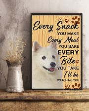 American Eskimo Dog Watching You 11x17 Poster lifestyle-poster-3