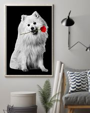 Japanese Spitz Rose Poster 3001  11x17 Poster lifestyle-poster-1
