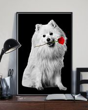 Japanese Spitz Rose Poster 3001  11x17 Poster lifestyle-poster-2