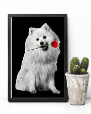 Japanese Spitz Rose Poster 3001  11x17 Poster lifestyle-poster-8