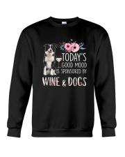 Border collie and wine 1009 Crewneck Sweatshirt thumbnail