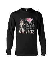 Border collie and wine 1009 Long Sleeve Tee thumbnail