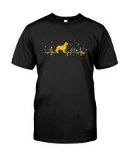 Golden Retriever Heart Beat 0110 Classic T-Shirt front