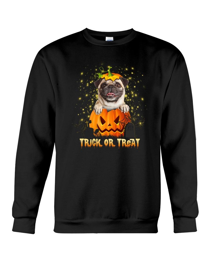 Dog In Pumpkin Crewneck Sweatshirt