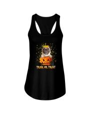 Dog In Pumpkin Ladies Flowy Tank thumbnail