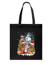 Staffie around snowman 0910 Tote Bag thumbnail